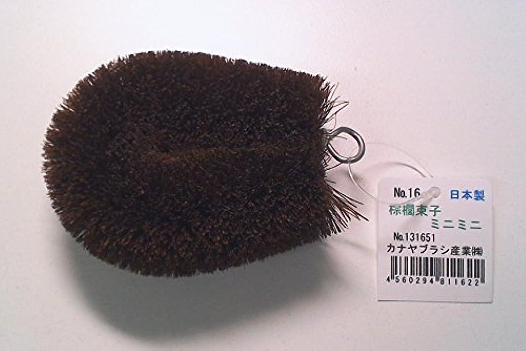リード福祉口径棕櫚束子ミニミニ かかとすべすべボディブラシ! 足裏マッサージにどうぞ! No131651