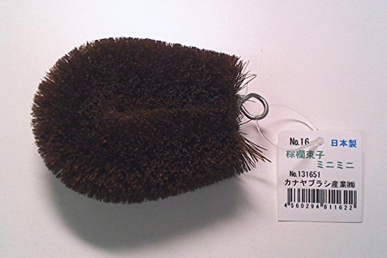 繊細ルーキー冷淡な棕櫚束子ミニミニ かかとすべすべボディブラシ! 足裏マッサージにどうぞ! No131651