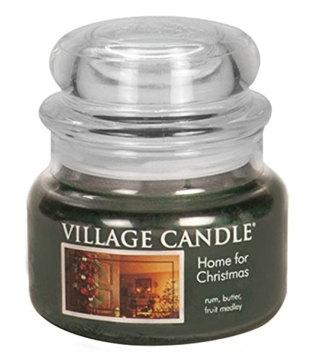交渉するポータブル解くVillage Candle Home for Christmas 11 oz Glass Jar Scented Candle,Small [並行輸入品]