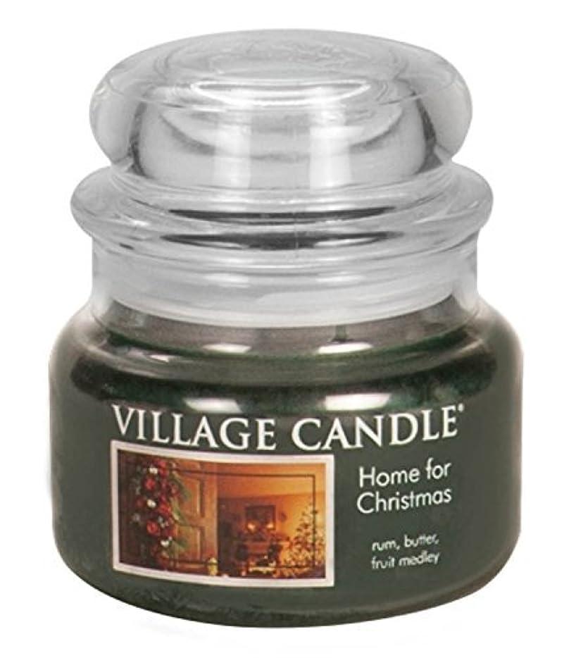 衝突特異性直接Village Candle Home for Christmas 11 oz Glass Jar Scented Candle,Small [並行輸入品]