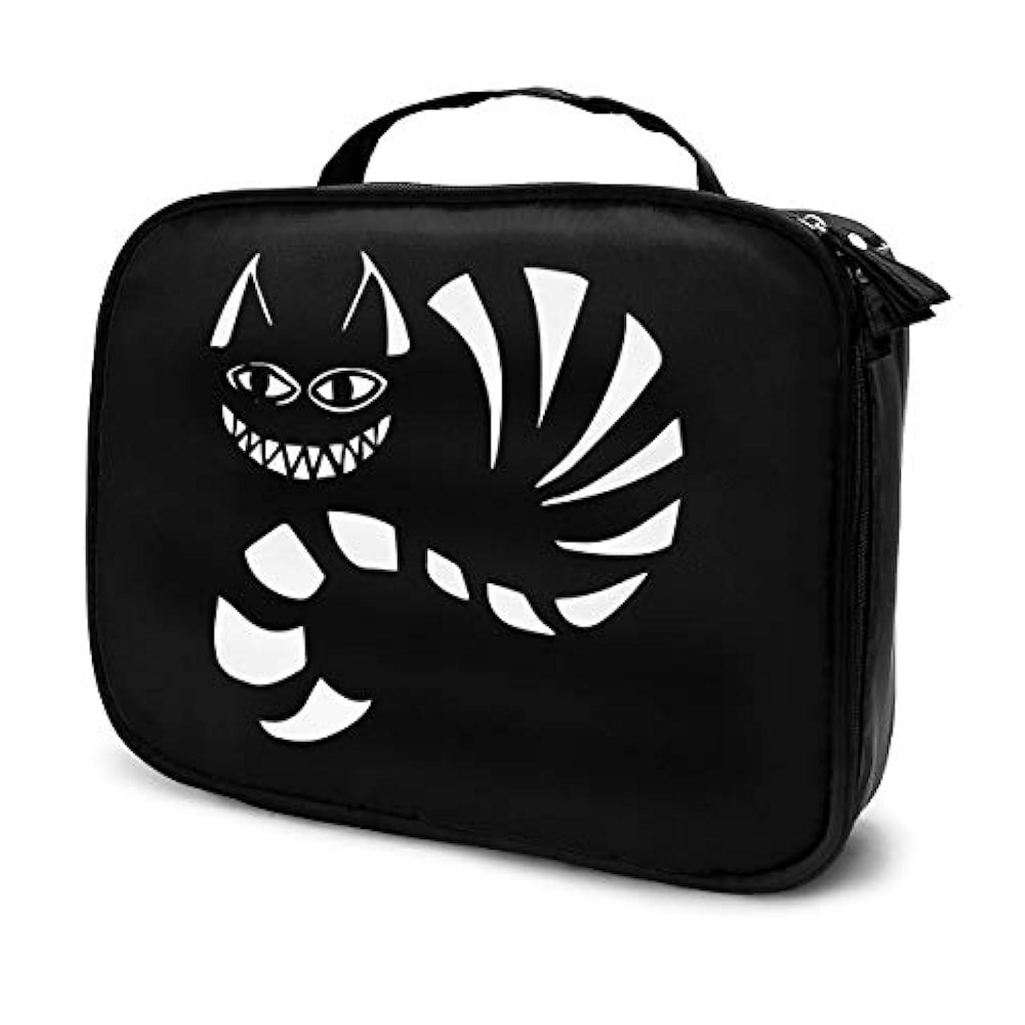 違法安全なずんぐりした化粧ポーチ メイクボックス コスメポーチ 収納ポーチ チェシャ猫 Cheshire Cat 防水 化粧品仕分け収納 小物入れ 旅行ポーチ 大容量 高品質 ファッション 2019年新品