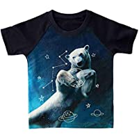 FLORICA Little Boys T-Shirt T Rex Short Sleeve Crewneck Cotton Tee Shirt 1+6 Years