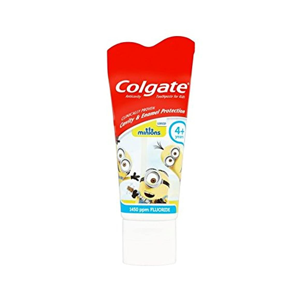 マイコン工業用法王手下の子供4+歯磨き粉50ミリリットル (Colgate) (x 4) - Colgate Minions Kids 4+ Toothpaste 50ml (Pack of 4) [並行輸入品]