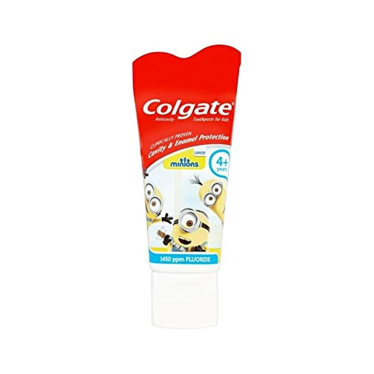 器官名門記者手下の子供4+歯磨き粉50ミリリットル (Colgate) (x 6) - Colgate Minions Kids 4+ Toothpaste 50ml (Pack of 6) [並行輸入品]