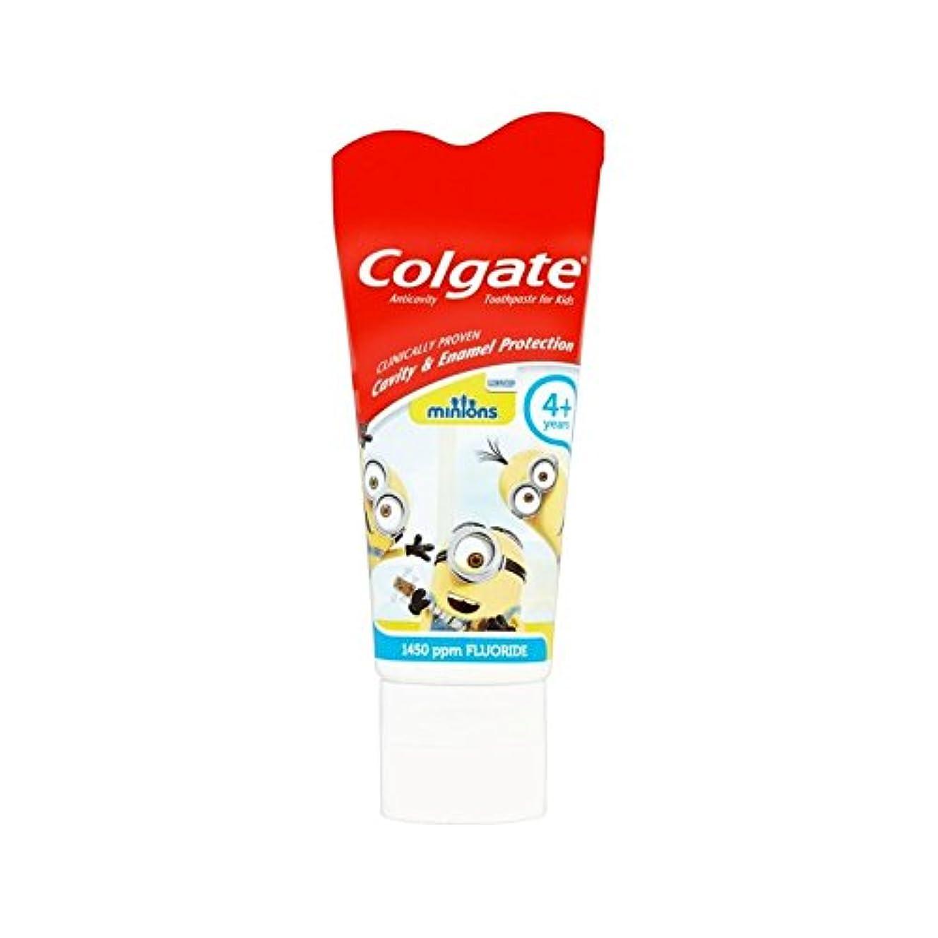 裸拡大するなす手下の子供4+歯磨き粉50ミリリットル (Colgate) (x 2) - Colgate Minions Kids 4+ Toothpaste 50ml (Pack of 2) [並行輸入品]