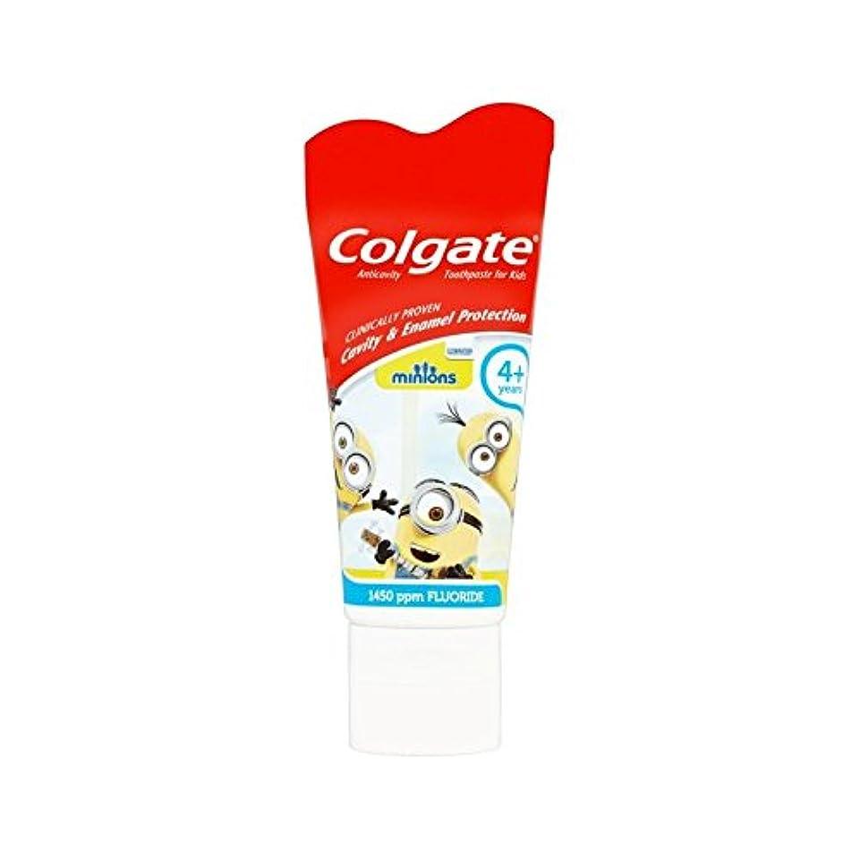 ユーザー割れ目請求手下の子供4+歯磨き粉50ミリリットル (Colgate) (x 4) - Colgate Minions Kids 4+ Toothpaste 50ml (Pack of 4) [並行輸入品]