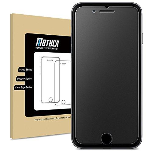 【アンチグレア強化ガラス】iPhone 7 6 6s対応 Mothca 液晶スクラブガラス 保護フィルム 日本旭硝子製素材 指紋防止 反射防止 硬度9H 3D touch対応 飛散防止 キズ防止 衝撃吸収 撥油性 疎水性 クリスタルアーマー (iPhone 7/6/ 6s)