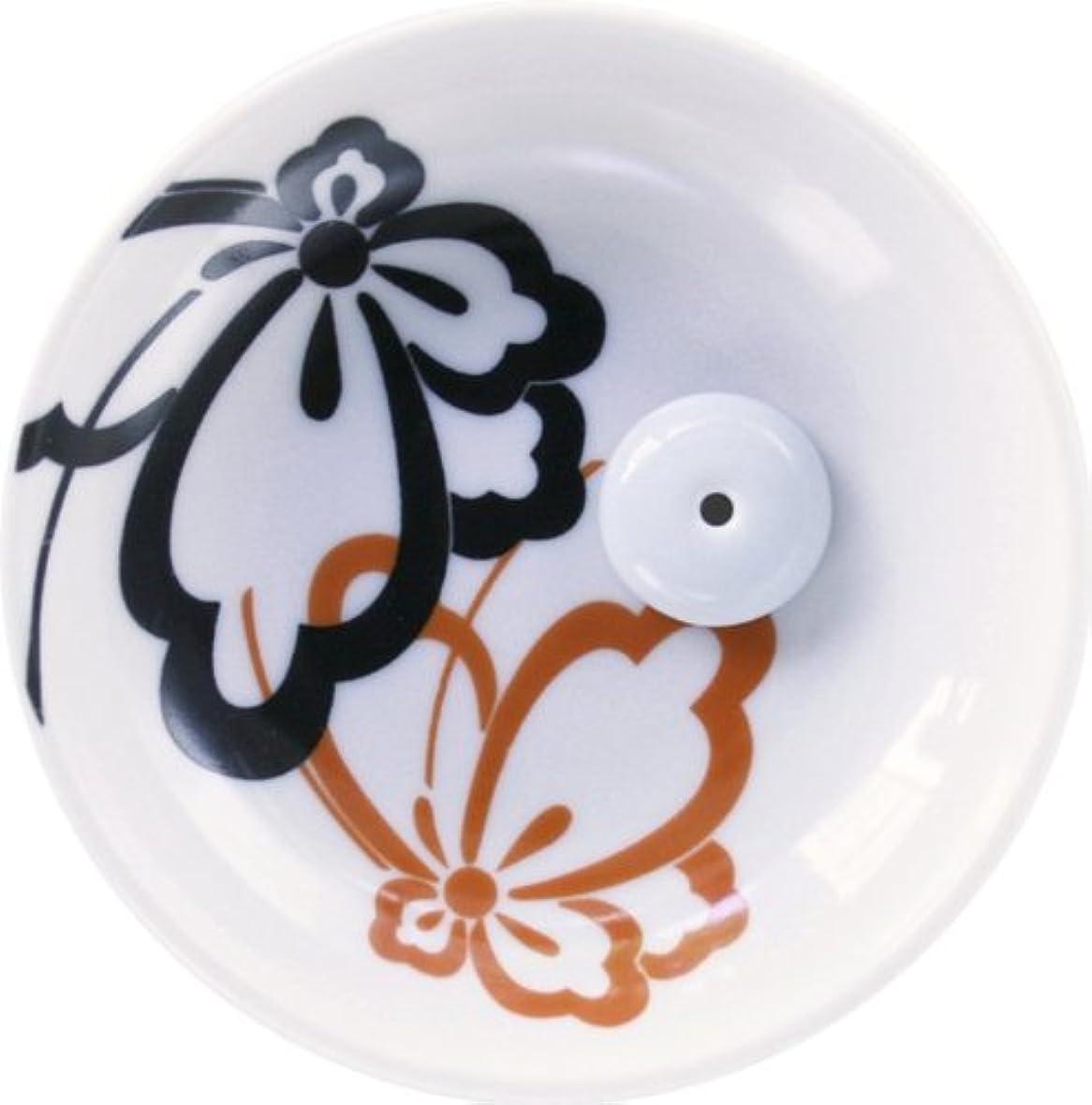 珍しい岸松縁(ゆかり) 香立&香皿 蝶紋
