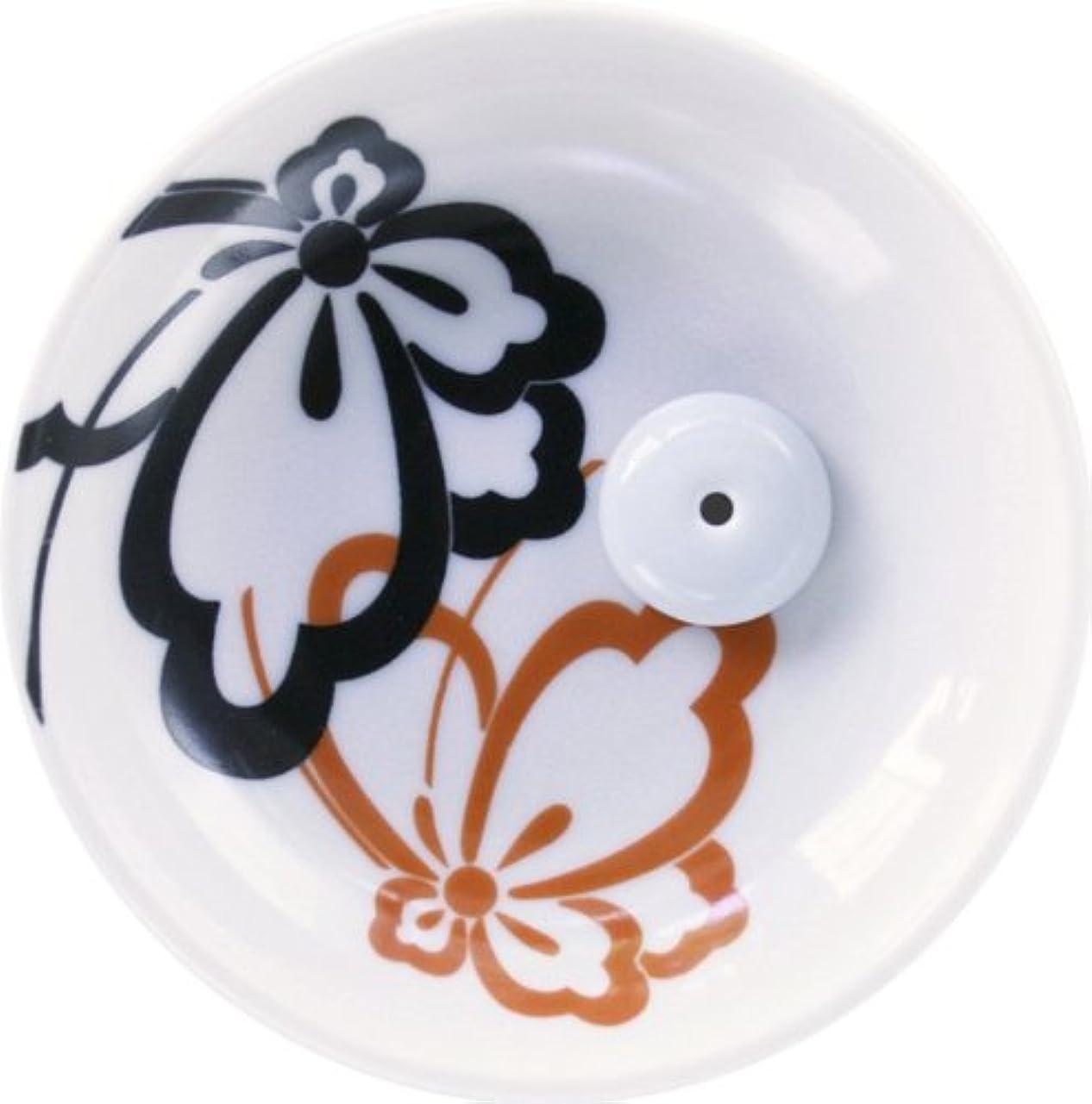油無礼に接ぎ木縁(ゆかり) 香立&香皿 蝶紋