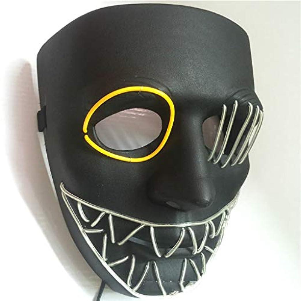 騙すホテル図ハロウィングローイングクリーピーマスク、コスプレマスク