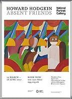 ポスター ハワード ホジキン Absent Friends The Tilsons Exhibition 額装品 アルミ製ハイグレードフレーム(シルバー)