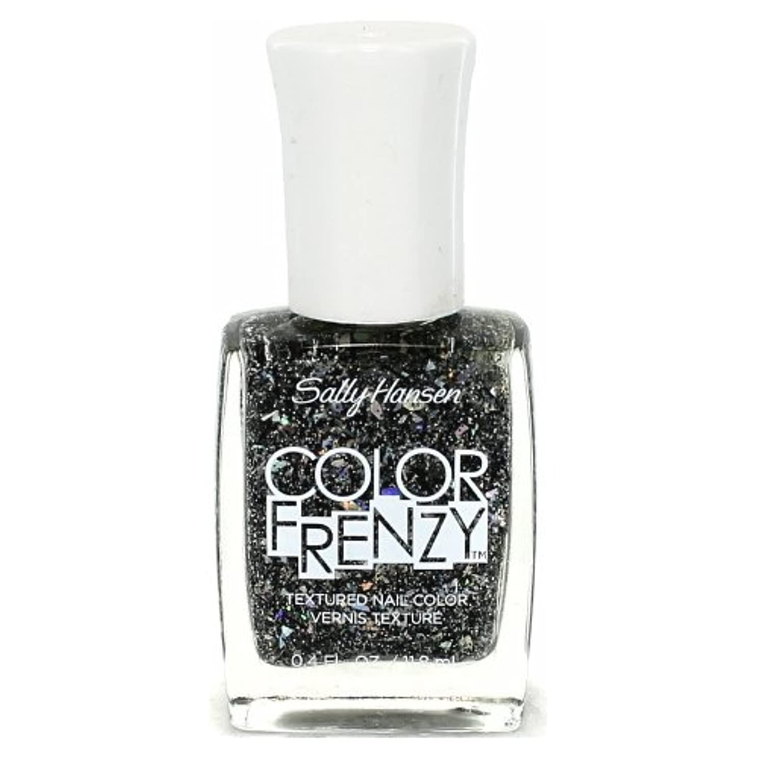 バイオレット宿アイドル(6 Pack) SALLY HANSEN Color Frenzy Textured Nail Color - Spark & Pepper (並行輸入品)