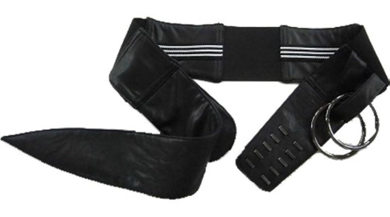 却下する活気づく微生物服の上から骨盤矯正ベルト 2段5列フック&ダブルリング固定式 (M ヒップ87~95cm)