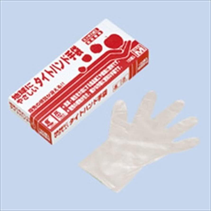 乳白先住民風シンガータイトハンド手袋 箱入(100枚入)L クリア 49μ