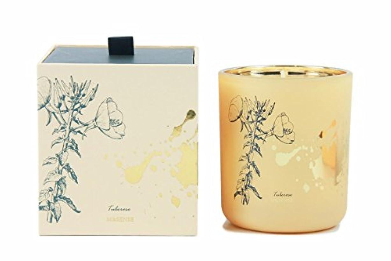 振りかけるエンドウ速度Tuberose, Rose Luxury Scented Candles Organic Soy Wax Aromatherapy Highly Scented Mothers Day Gift Stress Relief