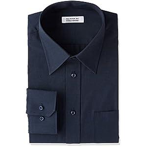 (アトリエサンロクゴ) atelier365 紺ワイシャツ 黒ワイシャツ 長袖ワイシャツ メンズ ワイシャツ Yシャツ ドレスシャツ ワイシャツ 無地 ワイシャツ カッターシャツ 制服 y9-7-9-1 y9-7-9-1-M-39-82-navy-r ネイビー-レギュラー M