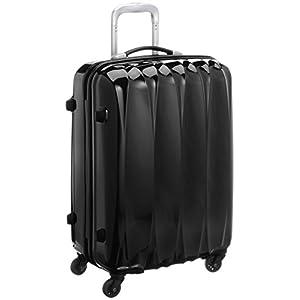 [アメリカンツーリスター] AmericanTourister Arona Lite/アローナライト スピナー65 (65cm/52L/3.5Kg) (スーツケース・キャリーバッグ・Mサイズ・TSAロック・大容量・軽量・ファスナー・保証付き) 70R*48005 48 (ブラック)