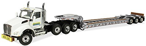 First Gear 1/ 50スケールDiecast Collectible New Holland農業ケンワースt880with tri-axle Lowboy Trailer ( # 50–3289)