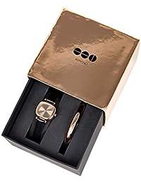 [コモノ]KOMONO 時計 レディース 2018 クリスマス 限定モデル 腕時計 マニーペニー ブラックローズ バングルセット KOM-W1247 [正規輸入品]