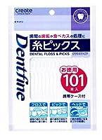 【10個セット】 デントファイン 糸ピックス 携帯ケース付 101本入×10個セット