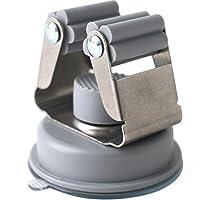 無痕吸盤 トイレ ほうき モップ ゲートの後にフックをかける 掛け壁 掛け式 灰色 ファッション 簡素 ステンレス プラスチック 家庭用 生活用品 実用的である 単独で売る 6 * 5.5 cm (グレー)