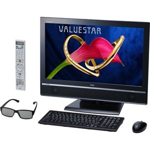 NEC デスクトップパソコン VALUESTAR W【3D対応】(ファインブラック・Office H&B搭載) PC-VW970CS