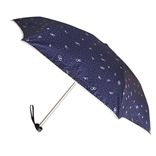 日傘可愛い遮光uvカット手動開閉折りたたみ傘お洒落紫外線対策グッズ遮熱軽量コンパクト雨傘丈夫な耐風仕様ショートパラソル婦人用傘紫外線対策晴雨兼用直径92CMシンプル日傘ネイビー