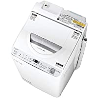 シャープ SHARP タテ型洗濯乾燥機 幅56.5cm(ボディ幅52.0cm) 洗濯・脱水容量 5.5kg ステンレス穴なし槽 シルバー系 ES-TX5C-S