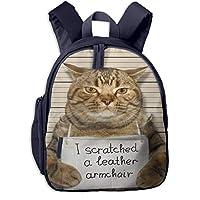 子供用 バックパック キッズバッグ ランドセル リュック通学 学童バッグ 怖いネコ ガールズ ボーイズ バッグ