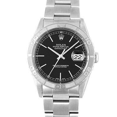 ロレックス デイトジャスト サンダーバード WG×SS P番 16264 黒 ブラック 36mm 3列ブレス