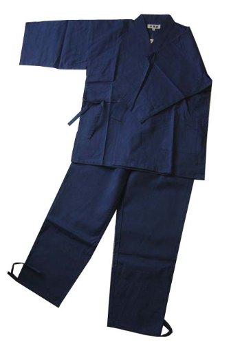 作務衣 紳士用 翠輝(濃紺)綿100%