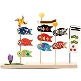 五月人形 三本立ち 鯉のぼり こいのぼり 飾り 子供 こどもの日 21cmx3cmx15.5cm