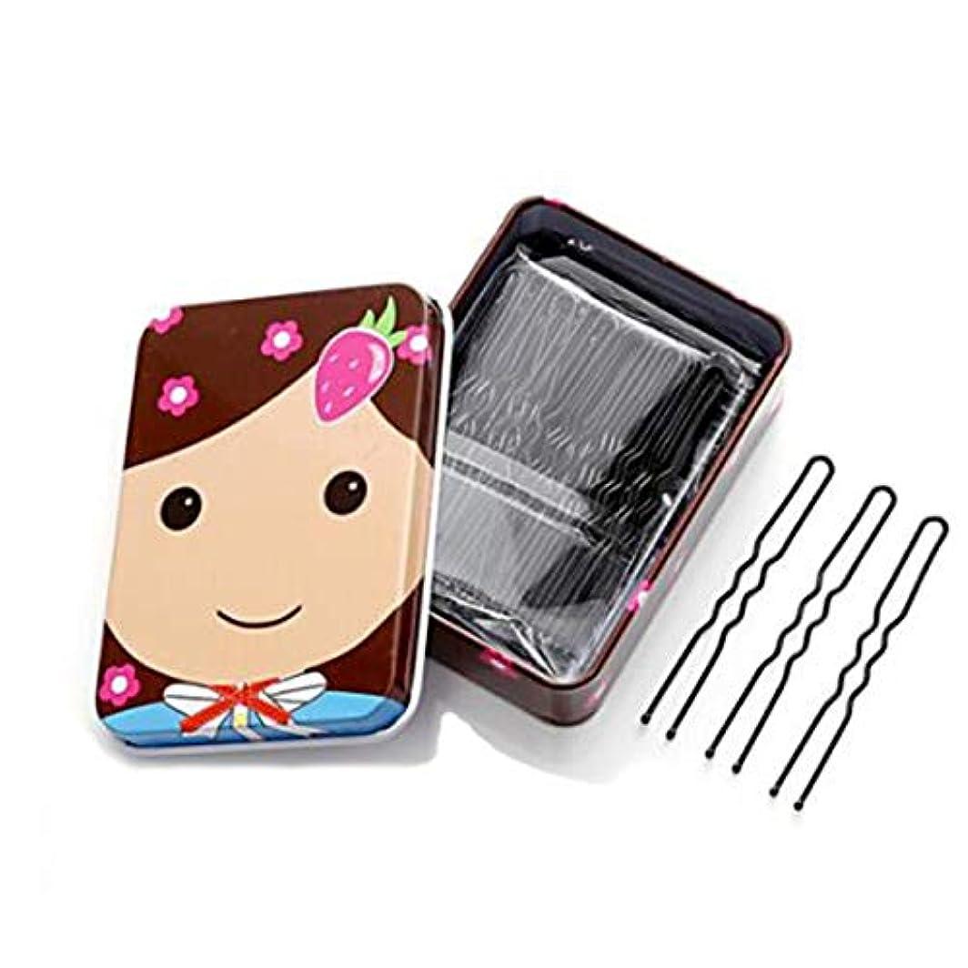 面ハチ続けるヘアクリップ、ヘアピン、ヘアグリップ、ヘアグリップ、200ブラックヘアピン、女性のヘアピン、ウェーブクリップ、ワードクリップ、大人のヘアピン、前髪、クリップ、サイドクリップ、ジュエリー、U字型クリップ、200、箱入り (Color : Black, Size : 5.5*0.6cm)