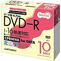 (まとめ) TANOSEE データ用DVD-R 4.7GB ワイドプリンターブル 5mmスリムケース DHR47JDP10T 1パック(10枚) 【×5セット】