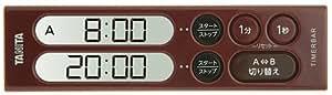 タニタ(TANITA) タイマーバーシリーズ ダブルタイマー 200分計 ダークレッド TD-404-DR