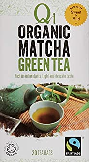 Qi Tea Organic Matcha Green Tea Teabags, 25 Count