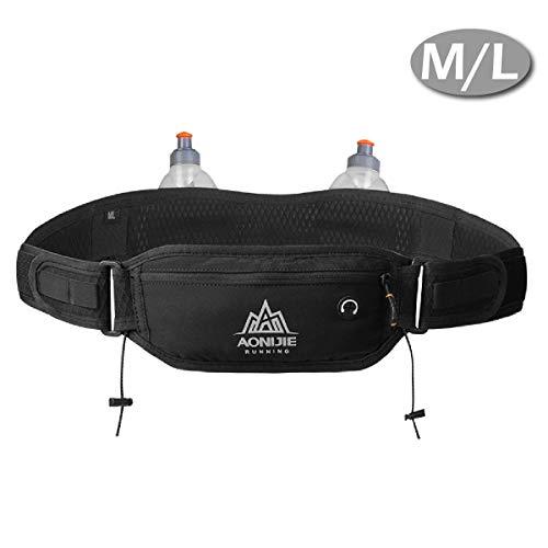 TRIWONDER ランニングポーチ ペットボトル付き 防水 ランニングベルトス ウエストバッグ ウエストポーチ 反射素入り 調節可能