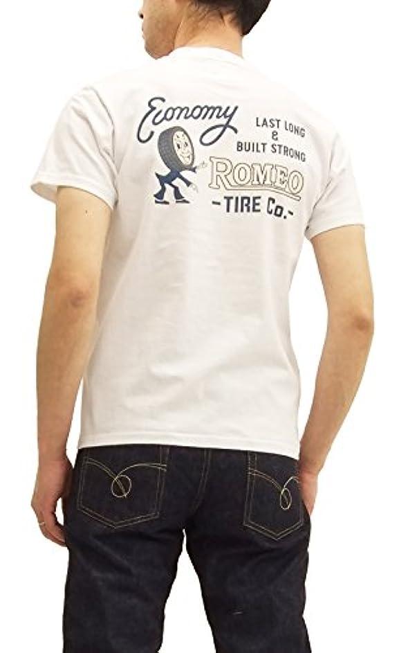 読みやすさサーフィン寺院(フェローズ) Pherrow's 18S-PT3 Tシャツ Pherrows ROMEO タイヤ メンズ 半袖tee ホワイト
