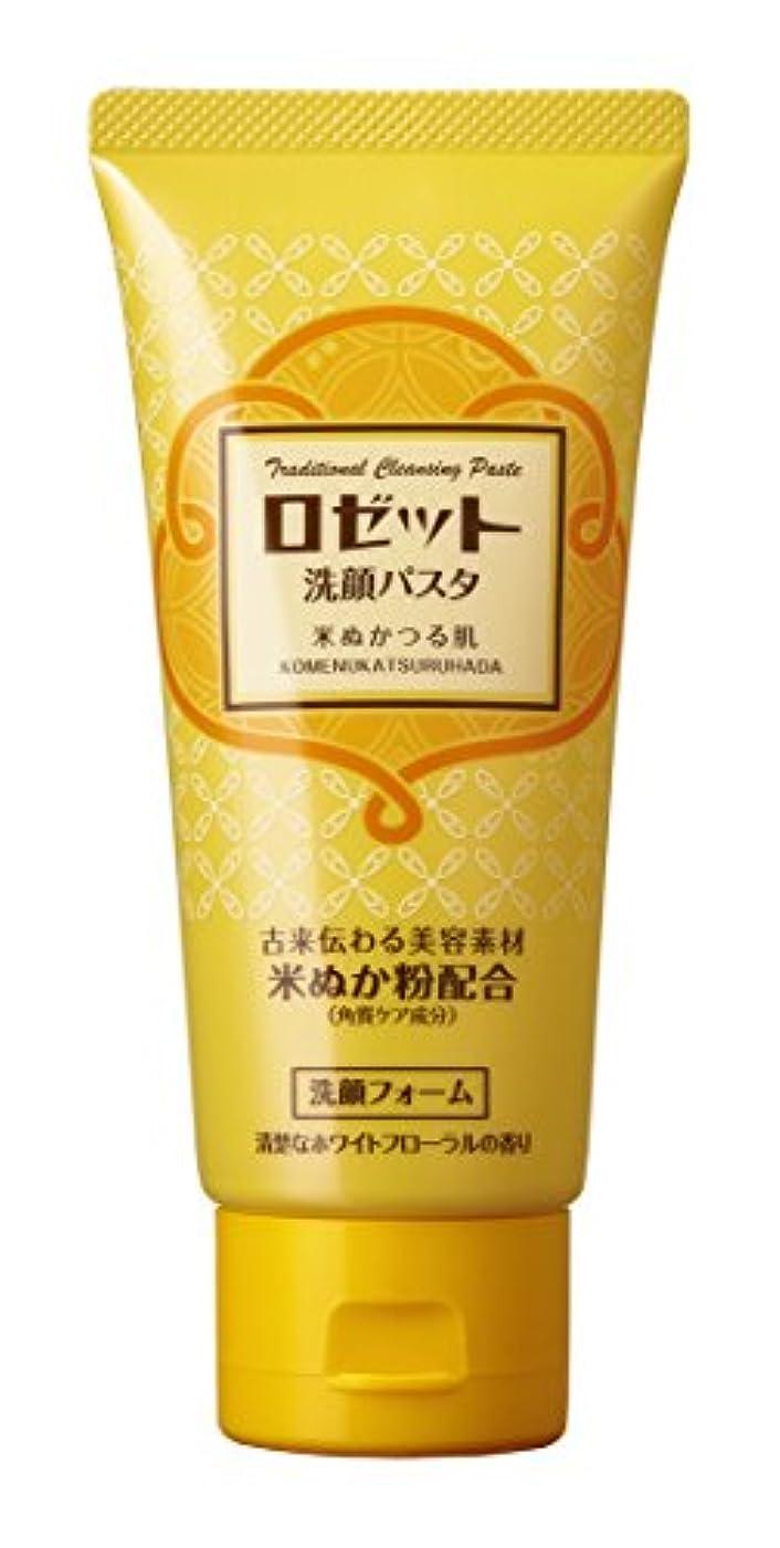 しばしば石鹸イチゴロゼット 洗顔パスタ 米ぬかつる肌 120g