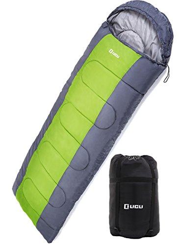 LICLI 寝袋 冬用 -5度 コンパクト 軽量 封筒型 シュラフ 1.8kg フード付き 220cm 収納袋付き 8カラー 最低...