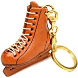 フィギュアスケート靴 本革製 立体キーホルダー VANCA CRAFT 革物語 (日本製 ハンドメイド)