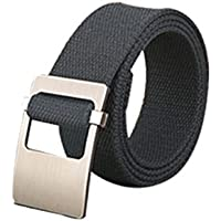 uxcell Unisex Canvas Web Belt with Metal Slide Buckle Width 1 1/2""