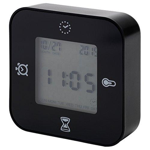 IKEA イケア LOTTORP ブラック 時計/温度計/アラーム/タイマー...