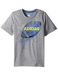 (アディダス) adidas キッズTシャツ Rocket Ball Tee (Toddler/Little Kids) Dark Grey 2T Toddler (1.5-3歳) One Size