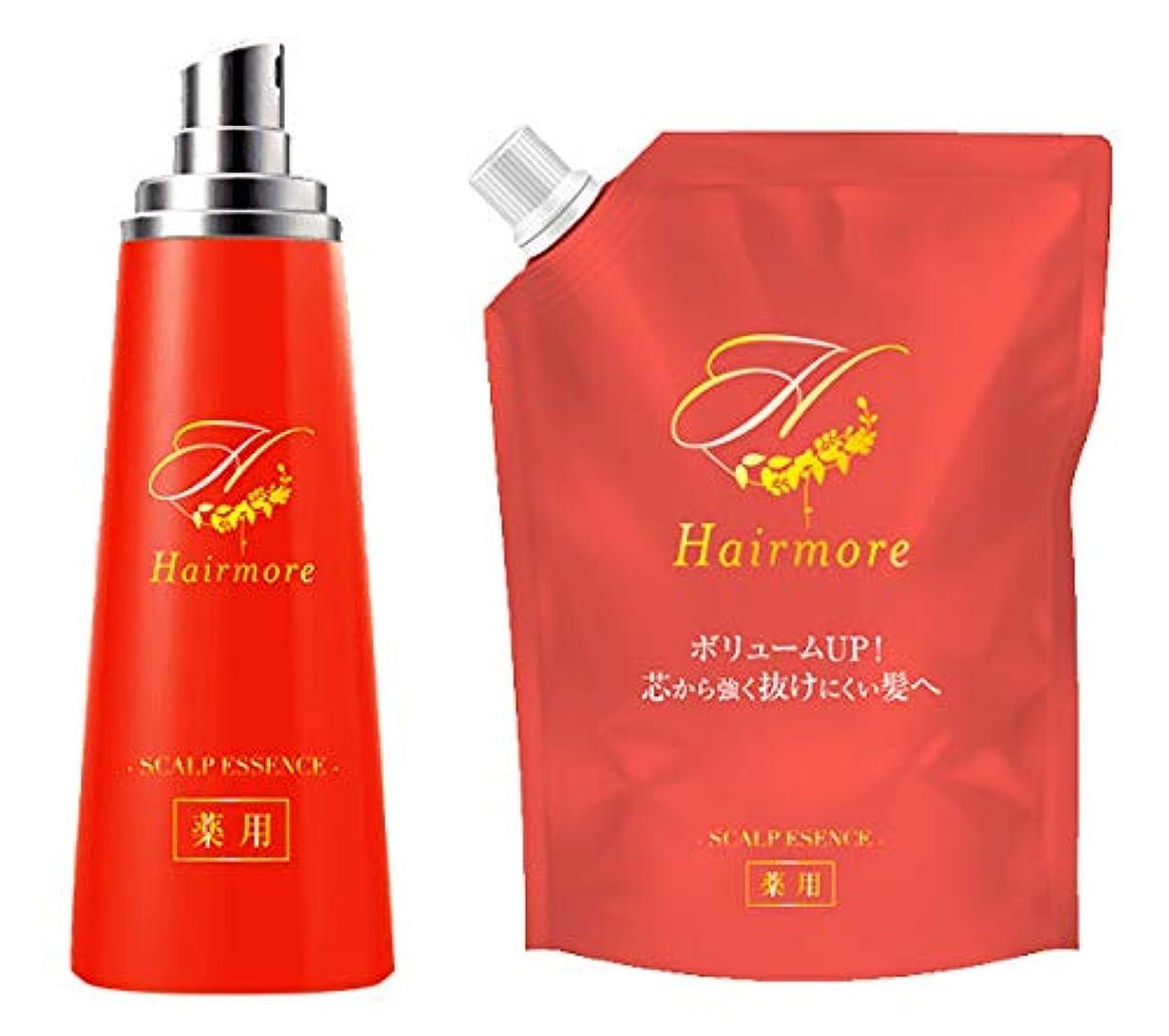 素晴らしいです一定集中的なヘアモア Hairmore スカルプケアエッセンス エストラジオール配合 育毛剤 【医薬部外品】【2個セット】