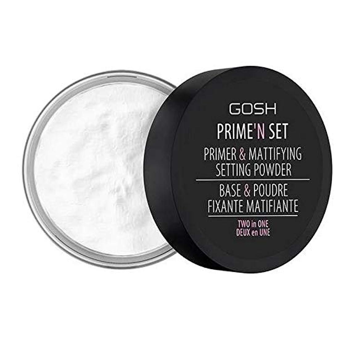 遅い横ジェット[GOSH ] おやっベルベットのタッチプライマー&設定パウダー - 透明 - GOSH Velvet Touch Primer & Setting Powder - Transparent [並行輸入品]