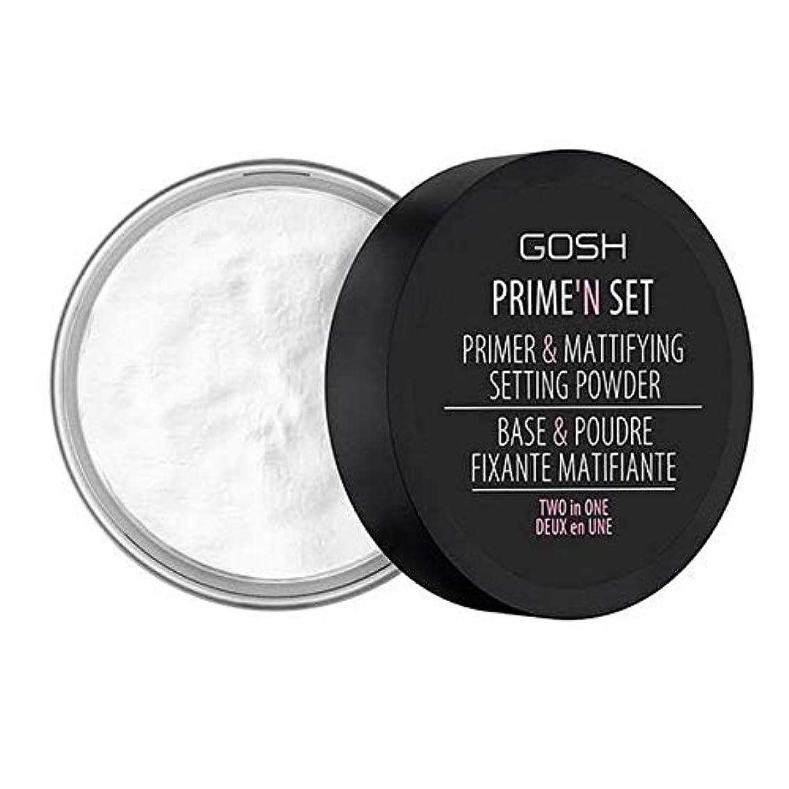 類似性神学校投げ捨てる[GOSH ] おやっベルベットのタッチプライマー&設定パウダー - 透明 - GOSH Velvet Touch Primer & Setting Powder - Transparent [並行輸入品]