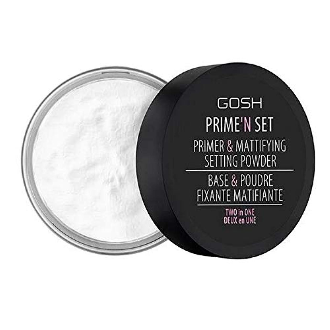 耕す目立つ昇る[GOSH ] おやっベルベットのタッチプライマー&設定パウダー - 透明 - GOSH Velvet Touch Primer & Setting Powder - Transparent [並行輸入品]