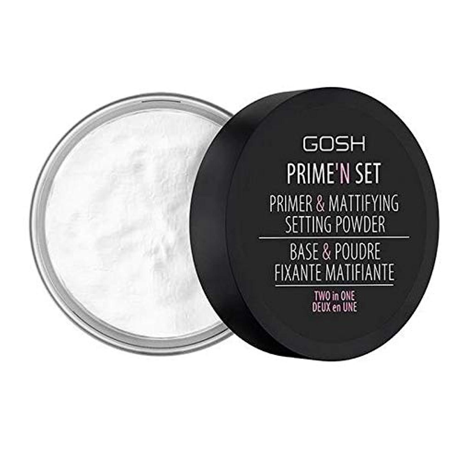 道徳視聴者バルブ[GOSH ] おやっベルベットのタッチプライマー&設定パウダー - 透明 - GOSH Velvet Touch Primer & Setting Powder - Transparent [並行輸入品]