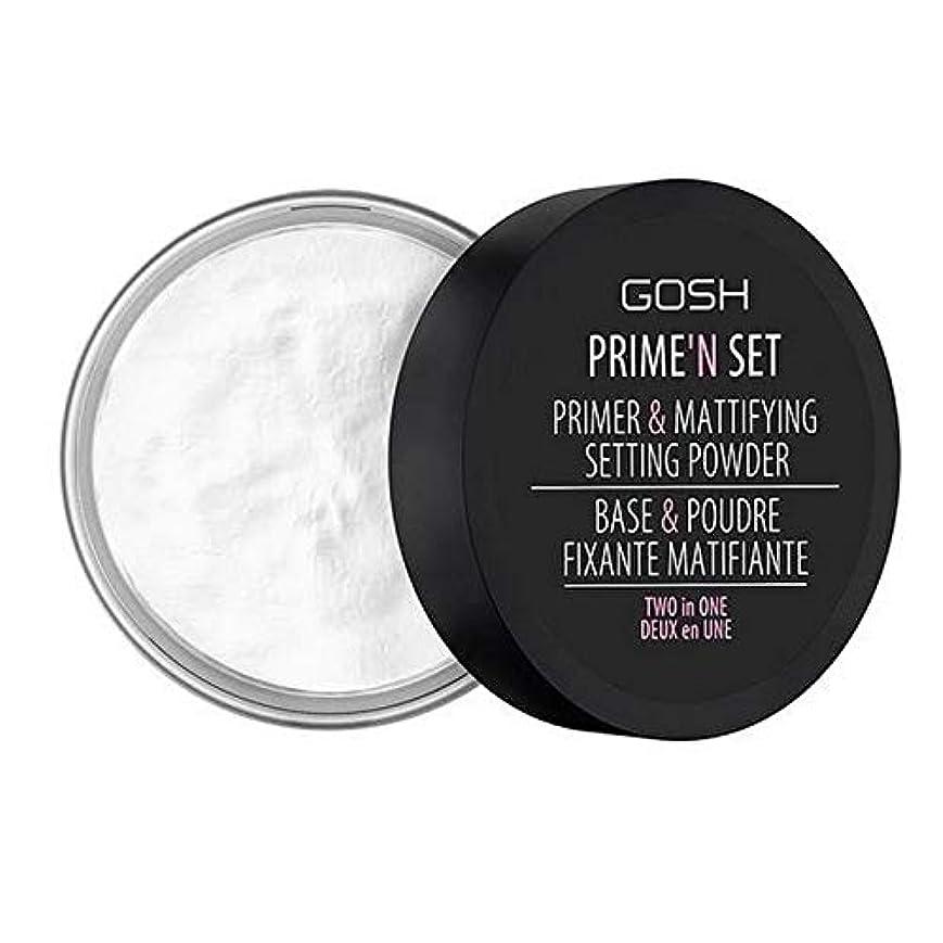 結晶教会時制[GOSH ] おやっベルベットのタッチプライマー&設定パウダー - 透明 - GOSH Velvet Touch Primer & Setting Powder - Transparent [並行輸入品]